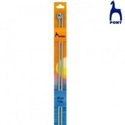 ALUMINIUM KNITTING NEEDLES 40 Cm RF.34603- 2,5 Mm